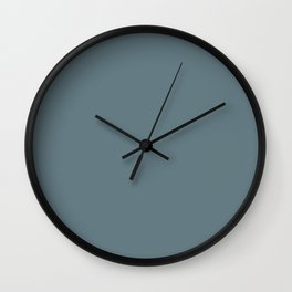 Cooled Medium Blue Solid Color Accent Shade / Hue Matches Sherwin Williams SW 7619 Wall Clock