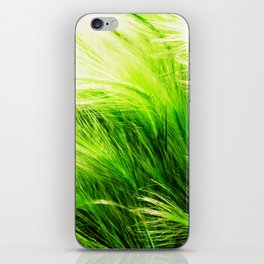 Green Swaying Grass in Summer Breeze iPhone Skin
