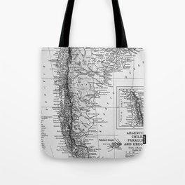 Vintage Map of Argentina (1911) Tote Bag