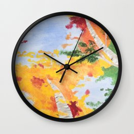 """Look Up North"" - Middle Panel Wall Clock"
