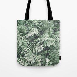 Fern Pattern Emerald Green Tote Bag