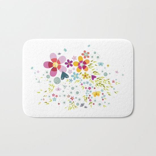 Schmetterlingswiese – Butterfly-Meadow Bath Mat