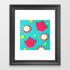 Turquois Tea Framed Art Print