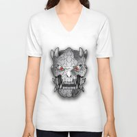 demon V-neck T-shirts featuring Demon by Luca Giobbe