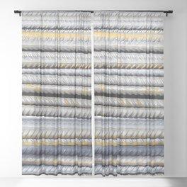 Steely Sheer Curtain