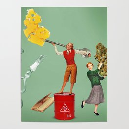 Oil or Flowers? Poster