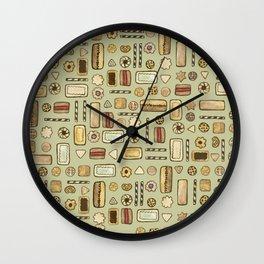 cookies green Wall Clock