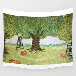 Amongst the Oranges Wall Tapestry