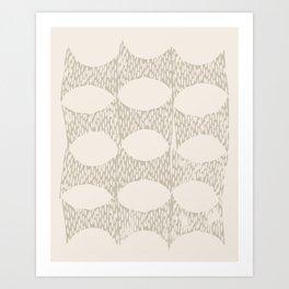 Arches Block Print in Cream Art Print