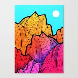 Summer top hills Canvas Print