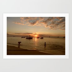Stonetown Sunset Art Print