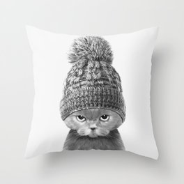BOBBY BOO Throw Pillow