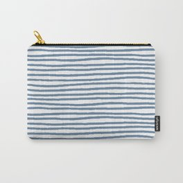 Baesic Horizontal Lines (Denim) Carry-All Pouch