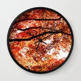 AutumN Tree Leaves Wall Clock
