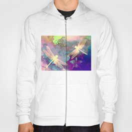 Painting Dragonflies and Orchids A Hoody