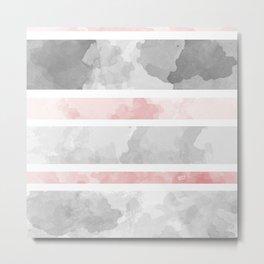 KIROVAIR MARBLE STRIPES #minimal #design #kirovair #decor #buyart #grey #pink #elements Metal Print