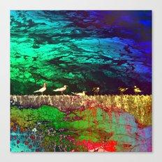 golden seagull Canvas Print