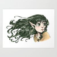 fairy Art Prints featuring Fairy by Courtney Godbey