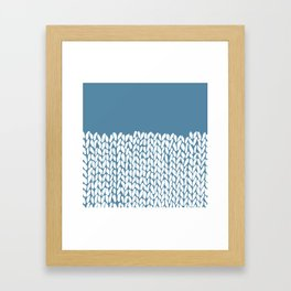 Half Knit Blue Framed Art Print