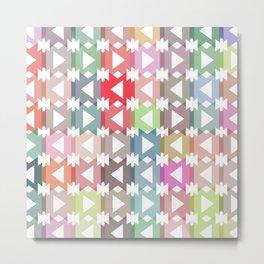Pastel geometry Metal Print