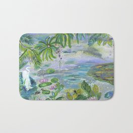 Pond in the Morning Bath Mat