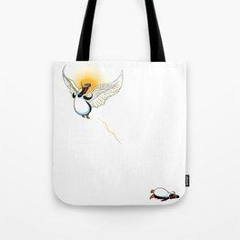 Flying Penguin Tote Bag