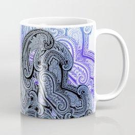paisley star in royal blue Coffee Mug