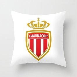 AS Monaco Logo Throw Pillow