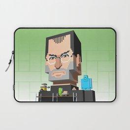 Steve Jobs 3D pixel portrait Laptop Sleeve
