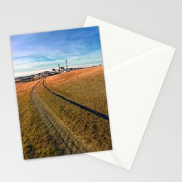 On the way to the village center | landscape photography Stationery Cards