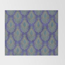 paisley in cinnamon Throw Blanket