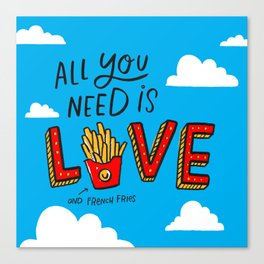 Love and French Fries Canvas Print