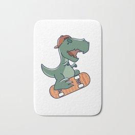 T-Rex Dinosaur skateboard sport tricks gift Bath Mat