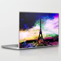 eiffel tower Laptop & iPad Skins featuring eiffel tower by haroulita