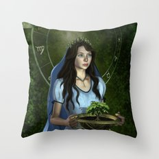 Virgo zodiac fantasy Throw Pillow
