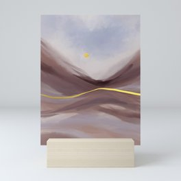Desert canyon Mini Art Print