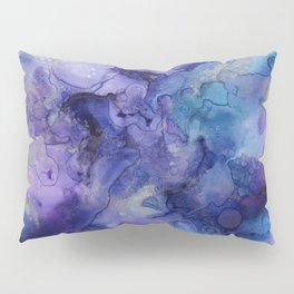 Abstract Watercolor and Ink Pillow Sham