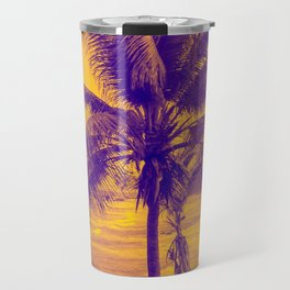 Golden Black Sand Beaches and Palm trees Travel Mug