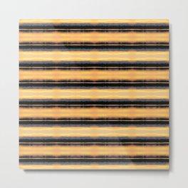 166 - Sunset Stripes design Metal Print