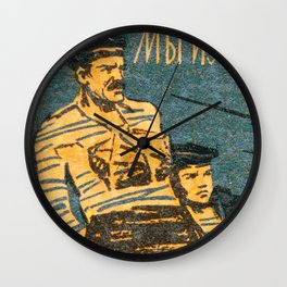 Soviet Film Poster We are From Kronstadt Wall Clock