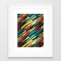 sweater Framed Art Prints featuring 80's Sweater by Jacqueline Maldonado