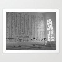 Pearl Harbor Memorial Wall  Art Print