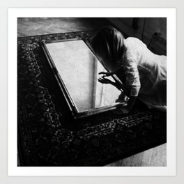 Mirrors tell the truth, break them. Art Print