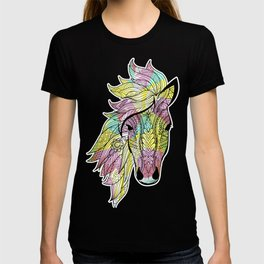 Tribal Horse Tee, Aztec Boho design, Horse product T-shirt