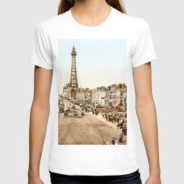 The Promenade at Blackpool, Lancashire, England 1898 T-shirt