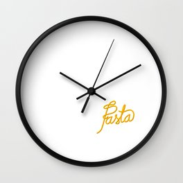 Pasta   [color] Wall Clock