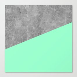 Geometry 101 Mint Meringue Canvas Print