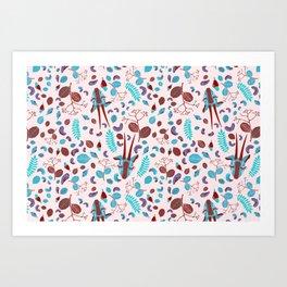 Cashew Nuts Pattern (Version 3) Art Print