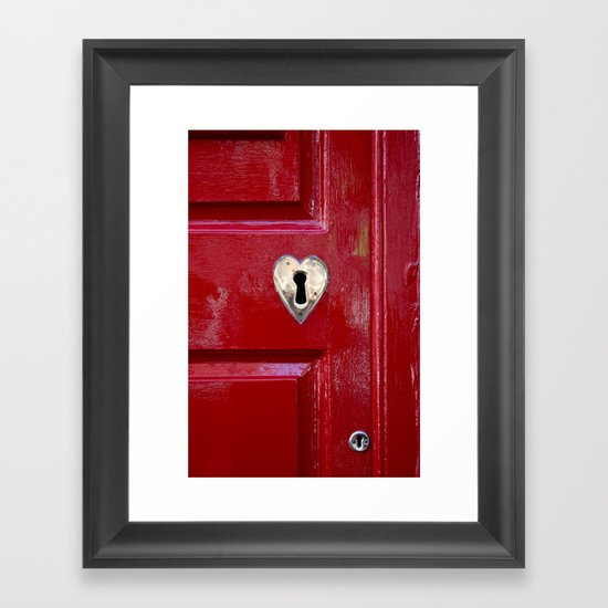 Heart Shaped Lock Framed Art Print