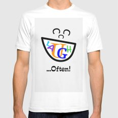Laugh Often Mens Fitted Tee White MEDIUM
